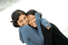 Gelukkige vriendschap Stock Foto