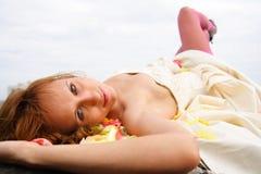 Gelukkige vrouw Stock Fotografie
