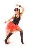 Gelukkige vrouw in dans Stock Foto