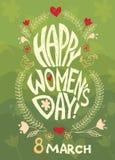 Gelukkige vrouwendag, 8 maart Royalty-vrije Stock Afbeelding