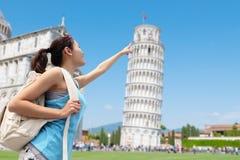 Gelukkige vrouwenreis in Italië stock fotografie