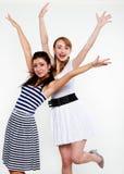 gelukkige vrouwenvrienden Royalty-vrije Stock Foto's