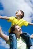 Gelukkige vrouwenvrouw met zoon Stock Fotografie