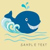 Gelukkige walvis Stock Afbeeldingen
