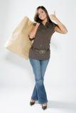 Gelukkige winkelende vrouw Royalty-vrije Stock Fotografie