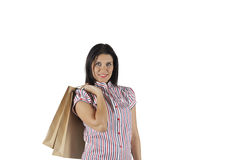 Gelukkige winkelende vrouw Royalty-vrije Stock Afbeelding