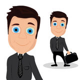 Gelukkige zakenman Vector Illustratie