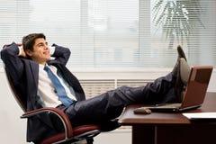 Gelukkige zakenman Stock Foto