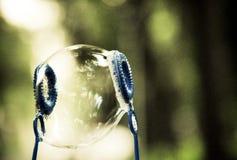 Gelukkige zeepbel Stock Afbeeldingen