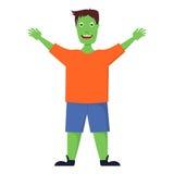 Gelukkige zombie die om omhelzing vragen Royalty-vrije Stock Afbeeldingen