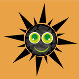 Gelukkige zon met textuur Royalty-vrije Illustratie