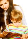 Gelukkige zoon met moeder Royalty-vrije Stock Afbeeldingen