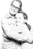 Gelukkige zusters Stock Afbeeldingen