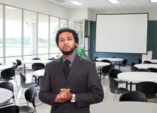 Gelukkige zwarte zakenman Stock Foto