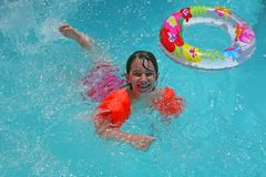 Gelukkige Zwemmer royalty-vrije stock fotografie