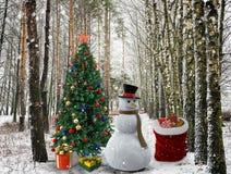 Gelukwens met Kerstmis en Nieuw jaar 2017 Stock Foto's