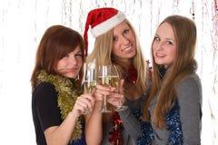 Gelukwens met nieuwe jaar en Kerstmis Stock Fotografie