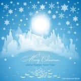 Gelukwens op Kerstmis en Nieuwjaar Royalty-vrije Stock Afbeeldingen
