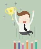 Gelukwensen bij het winnen van een toekenning stock illustratie