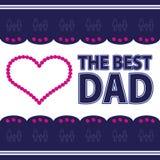 Gelukwensen gelukkige vader Stock Foto