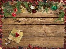 Gelukwensen op de Kerstmisachtergrond het 3d teruggeven Stock Foto's