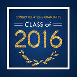 Gelukwensen op graduatie 2016 klasse van Graduatiepartij, C vector illustratie