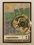 Gelukwensen Prentbriefkaar met bloem Royalty-vrije Stock Afbeelding