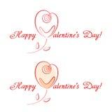Gelukwensen voor Valentijnskaartendag royalty-vrije illustratie