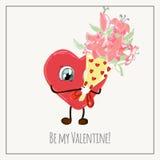 Gelukwensenkaart met harten voor de inzameling van de Valentijnskaartendag Royalty-vrije Stock Afbeeldingen