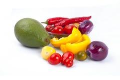 Gemüseüberfluß lokalisiert Stockfotografie