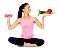 Gemüseübungsfrau Stockfoto