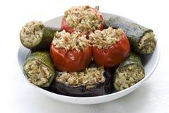 Gemüse angefüllt mit Reis Lizenzfreie Stockbilder