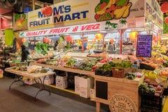 Gemüse auf Anzeige bei Adelaide Central Market Lizenzfreies Stockbild