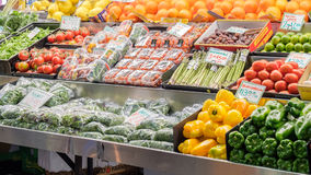 Gemüse auf Anzeige bei Adelaide Central Market, Süd-Australi Lizenzfreie Stockfotografie