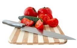 Gemüse auf Ausschnittvorstand. lizenzfreie stockfotografie