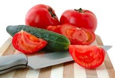 Gemüse auf Ausschnittvorstand. lizenzfreies stockfoto