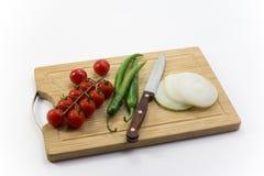 Gemüse auf dem hackenden Brett Lizenzfreies Stockfoto