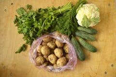 Gemüse auf der Tabelle lizenzfreie stockbilder