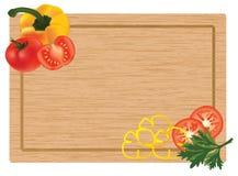 Gemüse auf einem hackenden Vorstand Stockbild