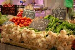 Gemüse auf einem Markt stsll stockbild