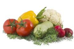 Gemüse auf einem weißen Hintergrund Lizenzfreie Stockfotos