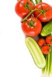 Gemüse auf einem weißen Hintergrund Lizenzfreies Stockfoto