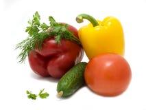 Gemüse auf einem weißen Hintergrund Stockbilder