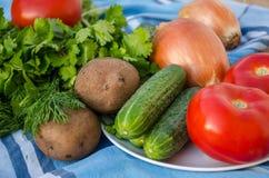 Gemüse auf hölzernem Hintergrund Lizenzfreie Stockfotos