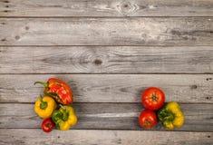 Gemüse auf hölzerner Tabelle Lizenzfreies Stockbild