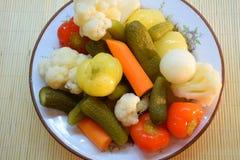 Gemüse auf Platte Lizenzfreies Stockfoto