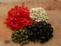 Gemüse auf Schreibtisch Lizenzfreie Stockfotos