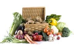 Gemüse auf Weiß Stockbild