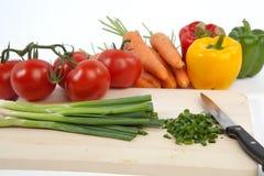 Gemüse auf weißem getrenntem Hintergrund Lizenzfreies Stockbild