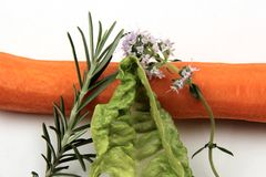 Gemüse auf weißem Hintergrund Stockfoto